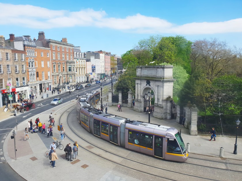 Stephen's green park, luas
